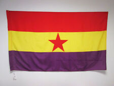 SECOND SPANISH REPUBLIC RED STAR FLAG 3' x 5' for a pole - SPAIN REPUBLICAN FLAG
