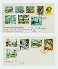 Jamaica 1972 Definitive Series First Day Covers Complete to $2... See Scans!