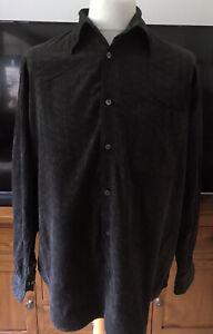 Brandini Italian Corduroy Cotton Shirt Size L/XL Grade A Cond.