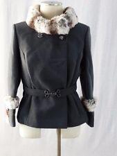 Vintage Joseph Stein Original Short Coat with Real Fur Collar / Wool -Union Made