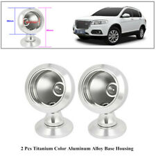 2x Silver Tone Aluminum Alloy Separable Housing Base Car Tweeter Cup Mount Tool
