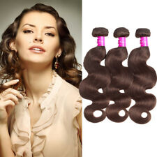8A 3Bundles Color4 Chocolate Brown Medium Brown Body Wave Remy Human Hair Wefts