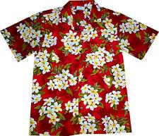 """Camisa Hawaiana """"Flores de Verano (rojo)"""" / M - 6XL / 100% poliéster / Hawaiiana"""