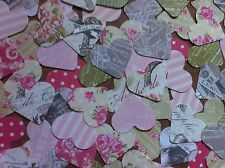 100 Heart shape embellishments for card making scrapbooking crafts Mixed Colours