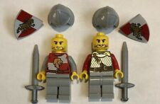 2 NEW LEGO Castle Knight Minifigures Lion Kingdoms Figs Figures People Lot 16