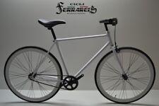 Fixed  bike single speed bici scatto fisso 1v bianco nero personalizzabile