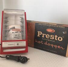 Vintage New Old Stock Open Box Presto Automatic Hot Dogger Cooker Machine