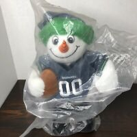 Kohls Snowman Plush NFL Seahawks Football Forever Collectibles Christmas New NIP
