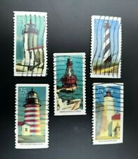 Lighthouses #2470-2474 Used 1990 Us 25c Commemorative Stamp Set Superb