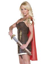 Sexy Gladiator Roman Greek Zina Princess Warrior Halloween Costume Womens L