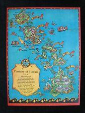 New ListingOriginal Vintage 1934 Ruth Taylor White Cartograph Print Territory Of Hawaii Map