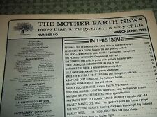 """Vtg. Back Issue """"The Mother Earth News"""" Magazine, No. 80, March/April 1983"""