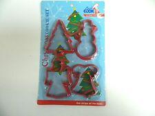 GOOD COOK 4 PIECE CHRISTMAS COOKIE CUTTER SET - PLASTIC