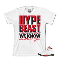 Tee to match Air Jordan Retro 5 Fire Red OG. Hypebeast Fire Red Tee