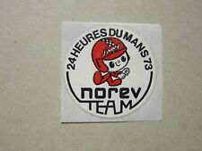 auto-collant vintage NOREV TEAM 24 h du MANS 1973 sticker