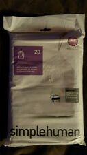 Simplehuman custom fit trash can liners new M type 20 pk
