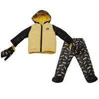 Batman Official DC Comics 3 Piece Baby Hooded Coat Set 0-24 mths Trousers Gloves