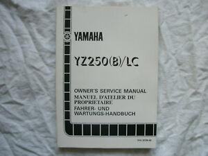 YZ250 YZ 250 YZ250B YZ250(B)/LC 1991 Genuine Workshop Service Repair Manual