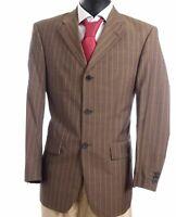 JOOP! Sakko Jacket Gr.48 braun Nadelstreifen Einreiher 3-Knopf -S652
