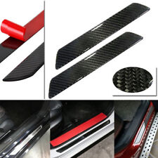 2pcs 25CM Carbon Fiber Car Scuff Plate Door Sill Cover Panel Step Protector Kit