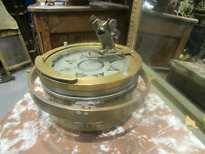 ancien compas navigation marine sestrel circum brown & son laiton miroir mobile