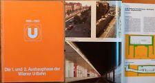 Wiener U-Bahn 1. u. 2. Ausbauphase 1969-1993 Wien Dokumentation Bau Planung Netz