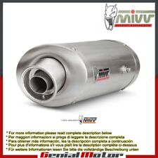 Mivv Exhaust Muffler Oval Steel Underseat for Triumph Daytona 675 2006 > 2012