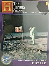 New Sealed Apollo 11 Moon Landing Jigsaw Puzzle History Channel Pictures in Time