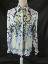 Versace 100% Silk Multicolor Floral Button Down Blouse NWT Size 40