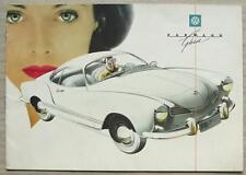 VOLKSWAGEN KARMANN GHIA COUPE & CABRIOLET Car Sales Brochure c1959 #15111929