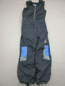 Spyder Size 7 Boys Black Athletic Fleece Insulated Snow Ski Bib Pants T803