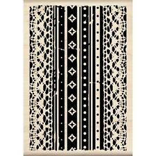InkD - Wood Mounted - Lace Pattern Rrp16.50 Now 40%OFF!!