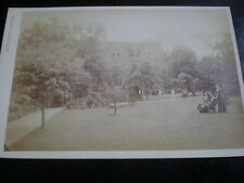 Cdv Cabinet old photograph grand house & grounds by Fred Downer at Watford 1890s