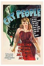 Horror: * The Cat People * Val Lewton Movie Poster 1942