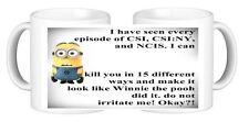 NCIS CSI Minion personnalisé en céramique tasse de café Toute conception de votre choix