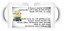NCIS CSI Minion Personalised Ceramic Coffee Mug ANY design of your Choice