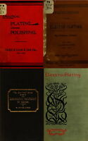 71 RARE OLD BOOKS ON ELECTROPLATING ELECTRO-METALLURY JEWERLY GOLD SILVER ON DVD
