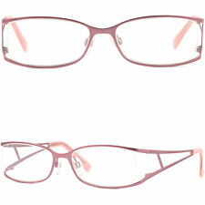 Light Full Rim Metal Women's Frames Metallic Girls RX Prescription Glasses Pink