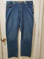 TOMMY HILFIGER Straight Leg Classic Fit Blue Jeans Mens Size 36X30 Dark Wash A7