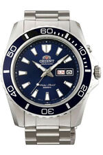 Orient Mako XL 45mm Deep Blue Automatic Men's Watch Tag + Date fem75002d6 Steel