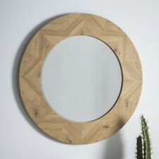 Large Modern/Decorative/Stunning Brand New Milano Round Timber wall Mirror.Save$