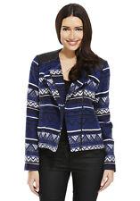 Biker Short Outdoor Zip Jacket Sleeves Tailored 18 Stripes Aztec Blue/Muti