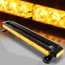 "26.5"" Amber 54 LED Traffic Advisor Emergency Warn Flash Strobe Light Universal 4"