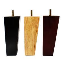 4x Holz Möbelfüße Schwarz Natur Rot für Sofa Bett Schrank Regal Nachttisch