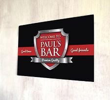 Personalizzata Rosso & Chrome Crest Birra Etichetta Firmare a4 metallo segno