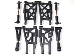 ELECTRIC 1/8 RC BUGGY HPI TROPHY FLUX FRONT AND REAR SUSPENSION ARM SET NEW