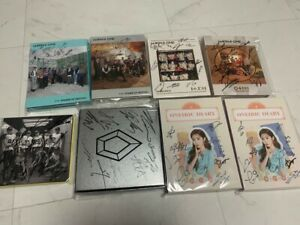 KPOP IDOL BOYS, GIRLS GROUP PROMO ALBUM Autographed ALL MEMBER Signed #201129
