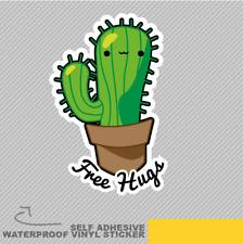 Funny Cute Free Hugs Cactus Vinyl Sticker Decal Window Car Van Bike 2018