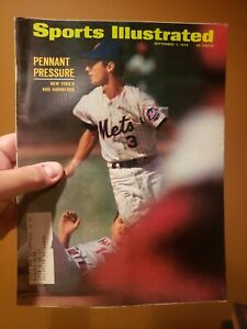 Sports Illustrated September 7, 1970 Bud Harrelson Pete Rose Magazine NY Mets