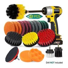 22 Piece All Purpose Drill Cleaning Power Brush Cleaning Set Scrubber Kit